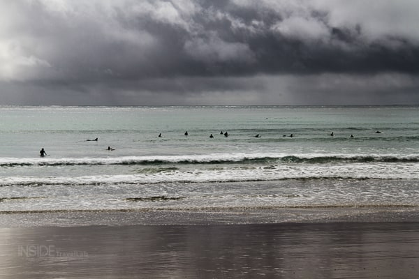 Surfers in Lorne