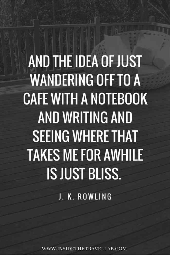 n inspirational quote on cafes, reading and writing in Melbourne