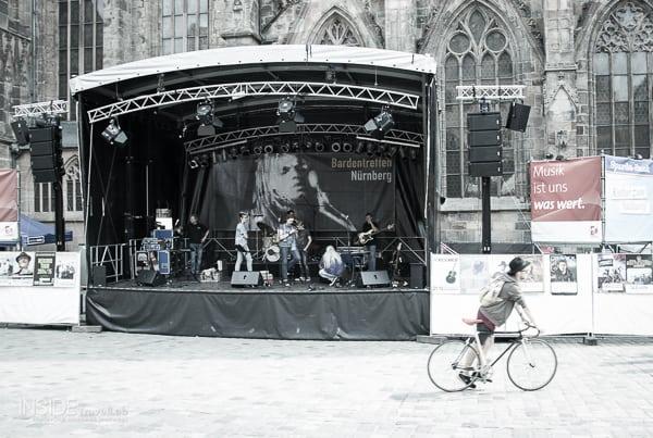 Before the Bardentreffen Festival in Nuremberg