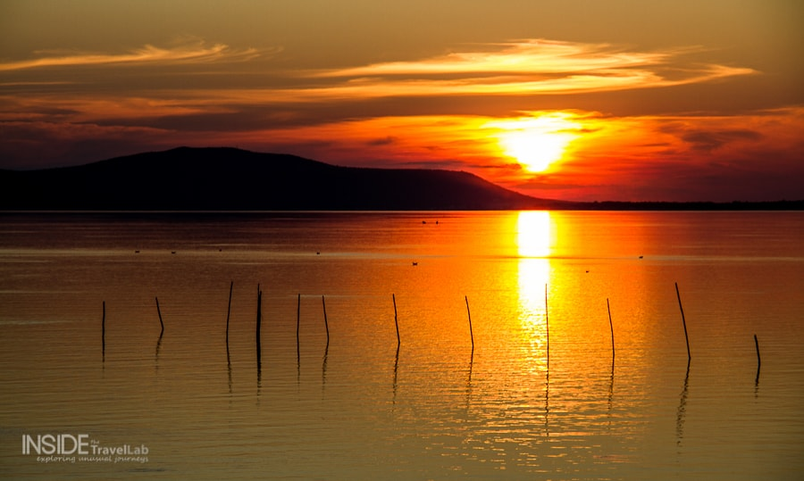 Sunset by Lake Varano