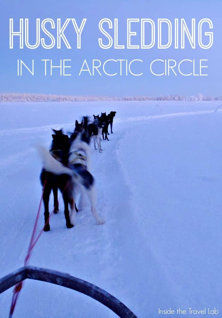 Husky sledding in the Arctic circle - an adventure via @insidetravellab