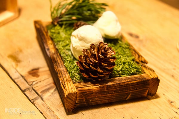 Pine inspired food at Bad Schoergau