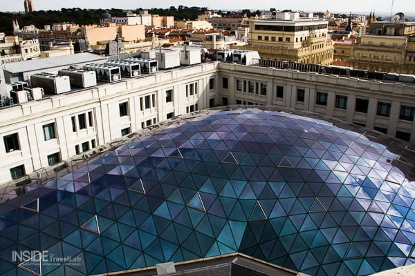 Blue dome seen from Centro Centro in Madrid