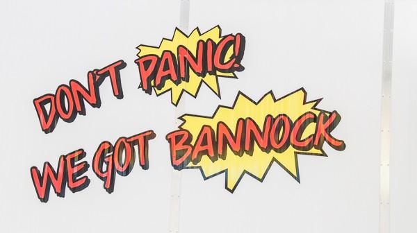 Bannock sign at Edmonton Street Performers via @insidetravellab
