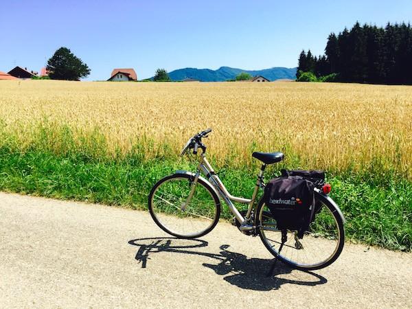Solo cyclist in Austria via @insidetravellab