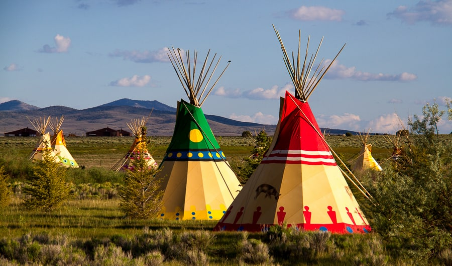 Tipis in Mustang Monument Nevada via @insidetravellab