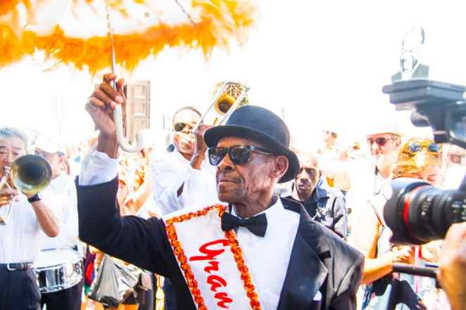 Treme Parade in New Orleans towards the SatchmoFest for Louis Armstrong via @insidetravellab