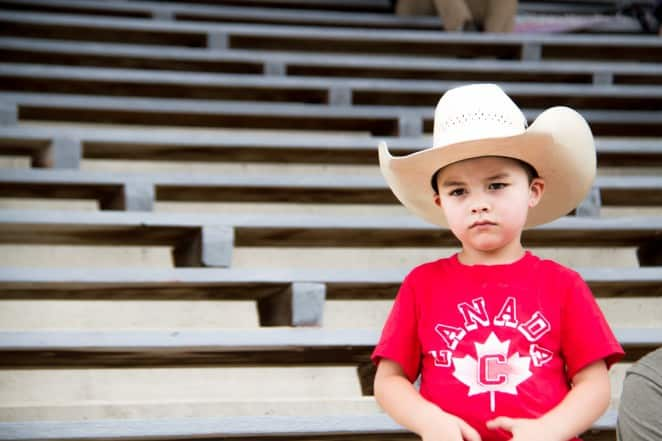 Not even the youngest supporter at the Williams Lake Stampede - First Rodeo