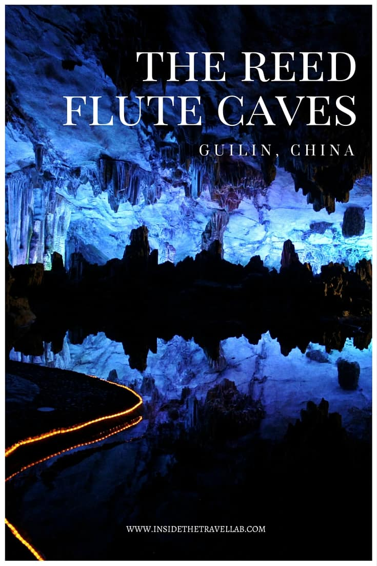 When it comes to caves, lights and 180 million years of geology, words dissolve in the presence of blues, reds and slippery illusion-like greens as they spill out of the stone and onto the screen. These are the Reed Flute Caves of Guilin. - via @insidetravellab