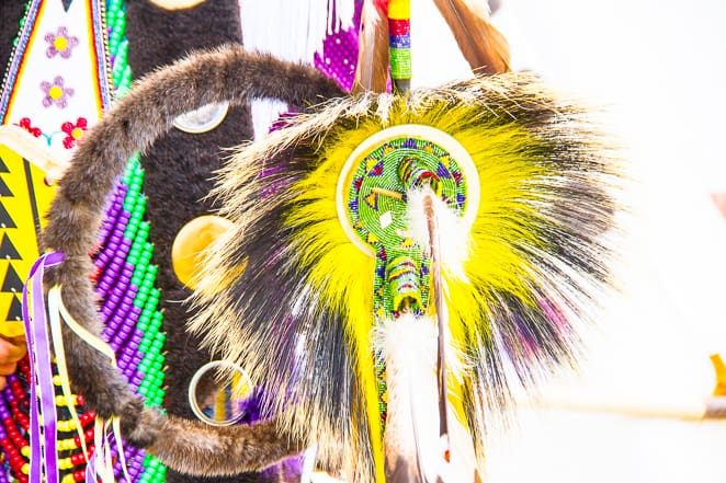First nations feathers at the Calgary Stampede