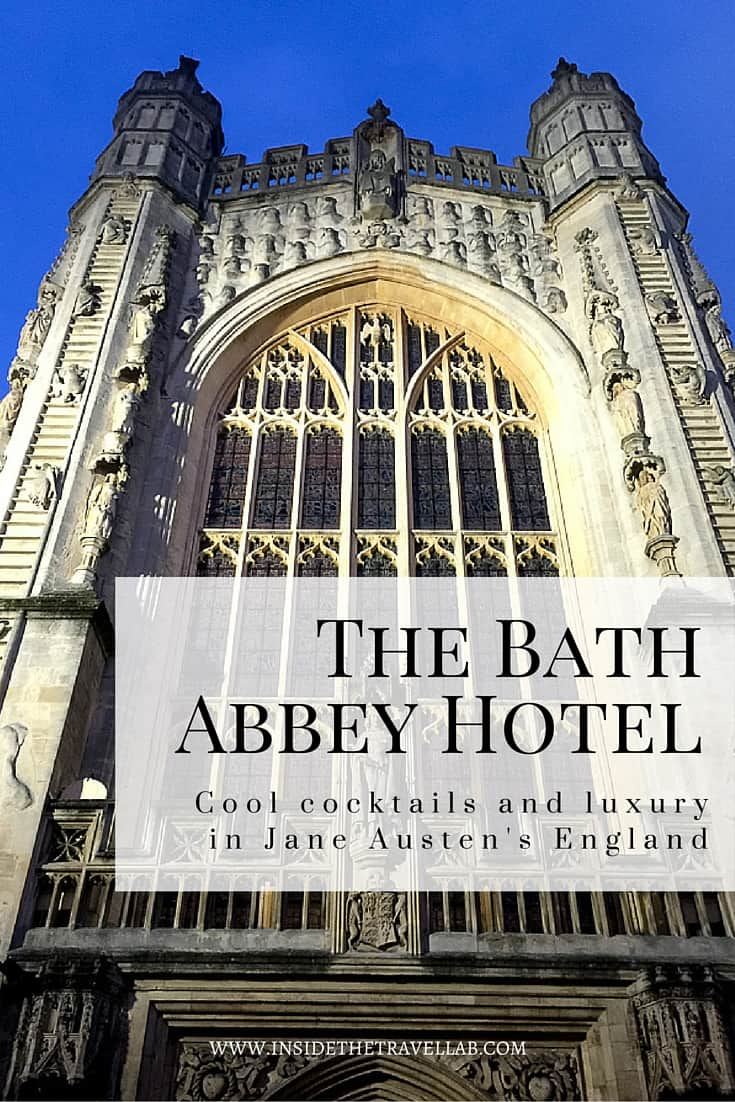 One of England's best cities> The Bath Abbey Hotel in Review. If you've never visited this part of England, you've missed a trick or two. The Abbey Hotel is worth a visit just to sip an Earl Grey Martini in the Art cocktail bar, but for the complete experience, check out the whole hotel review. - via @insidetravellab
