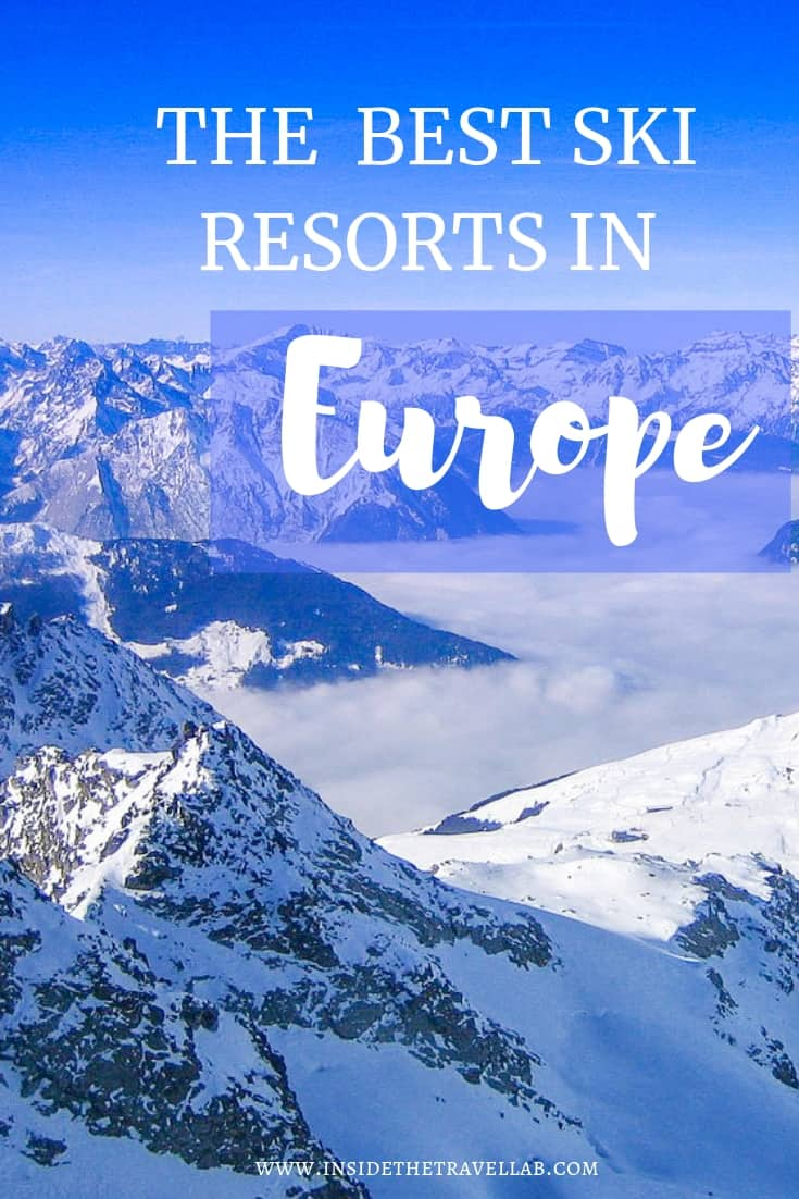 The best European ski resorts include some of the best skiing in the world. This article rounds up the best ski resorts in Europe for different conditions (off piste, beginners, glitzy and so on) so that you can hit the slopes sooner. #ski #europe #skieurope