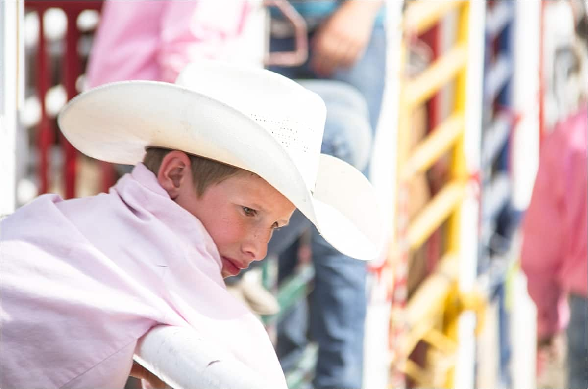 A young enthusiast at the Canada Rodeo