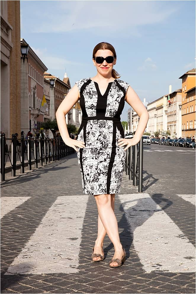 Abigail King in Rome on a travelshoot