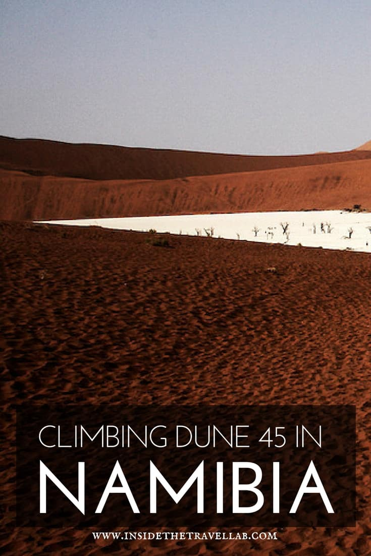 This is definitely one of the best things to do in Namibia > Climbing Dune 45 in Namibia via @insidetravellab