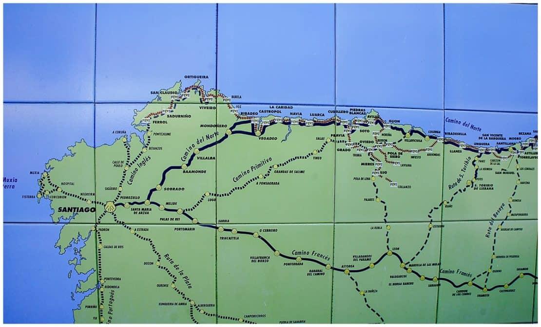 The path of the Transcantabrico Train