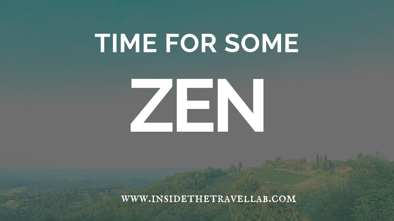 Time for some zen - handling flight delays
