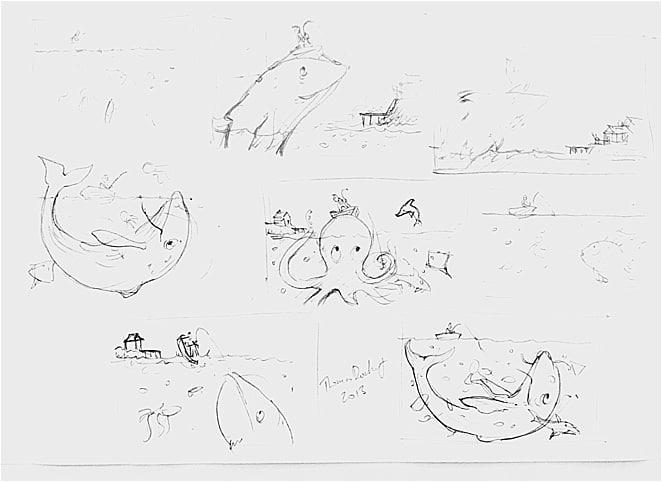 Nursery Rhyme sketches and designs