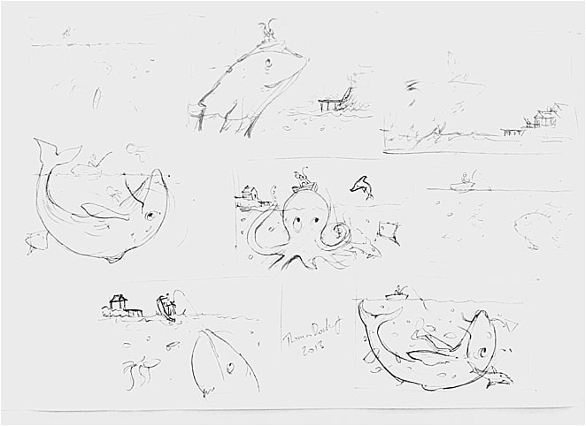 Nursery Rhyme sketches and designs
