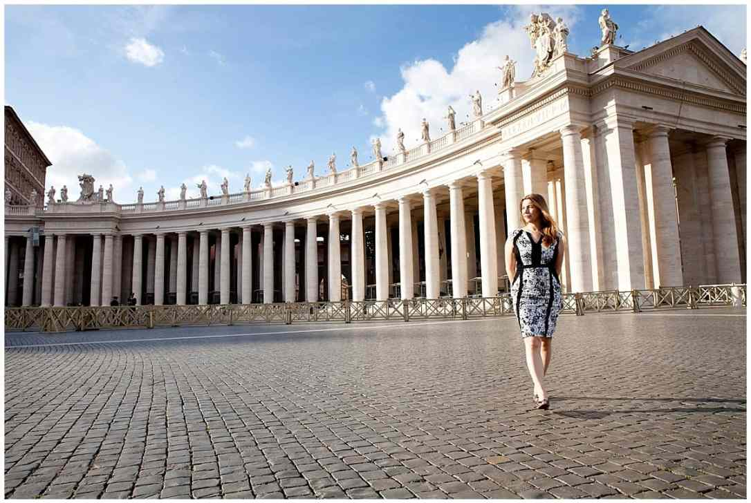 Abi travelling in Rome on Inside the Travel Lab