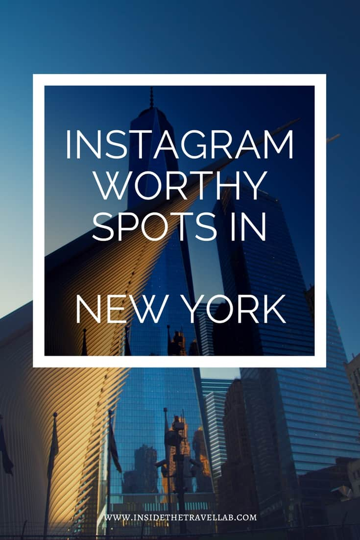 Instagram worthy spots from New York - a guide to interesting, beautiful and unusual places around the Big Apple.
