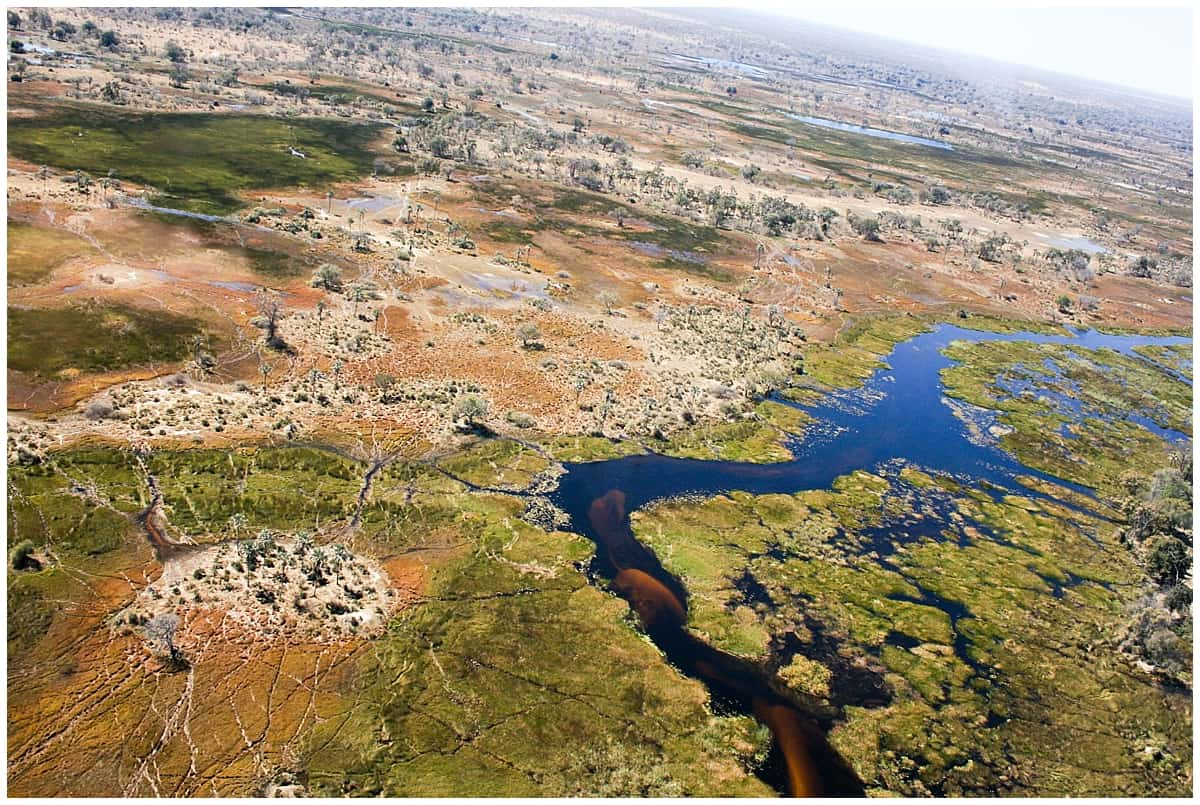 Okavango Delta Safari Botswana from the air