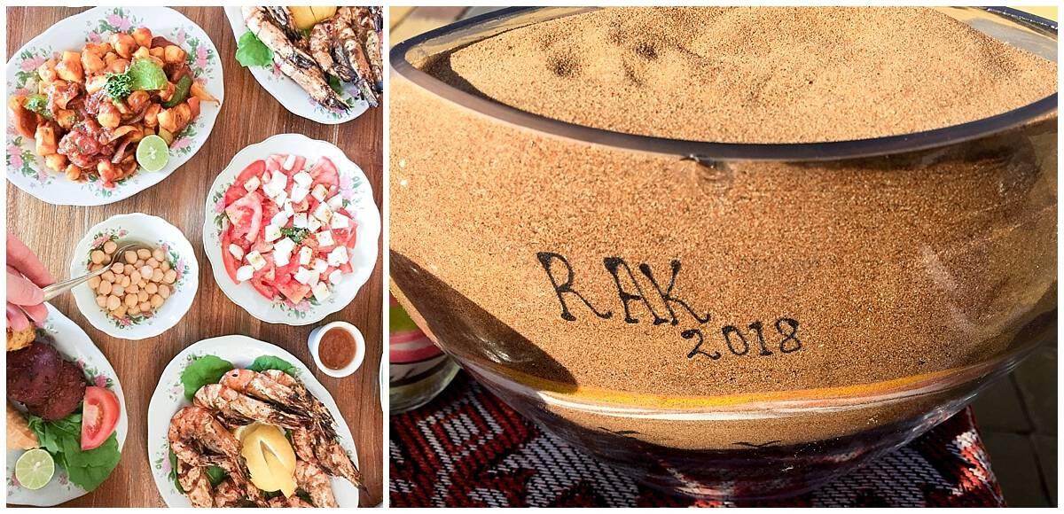 Sand and seafood in Ras Al Khaimah