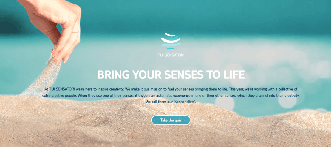 Bring your senses to life TUI sensory