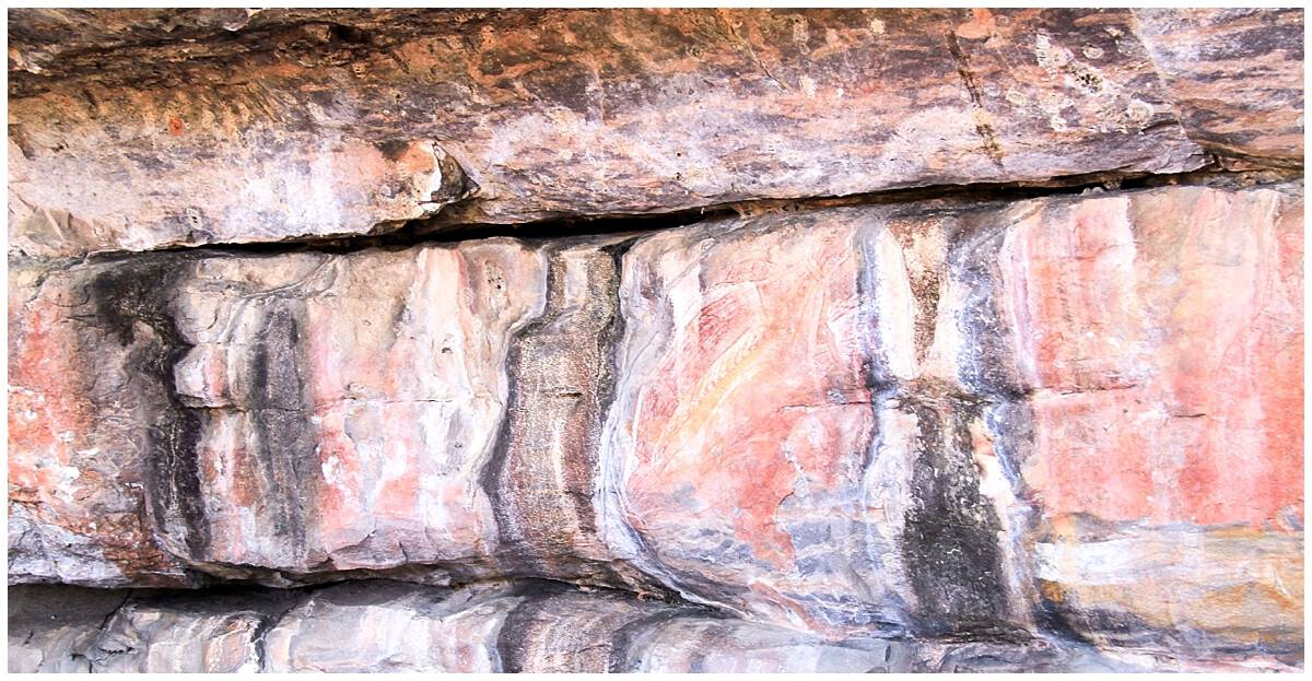 Aboriginal rock art in Kakadu Park - the australian outback