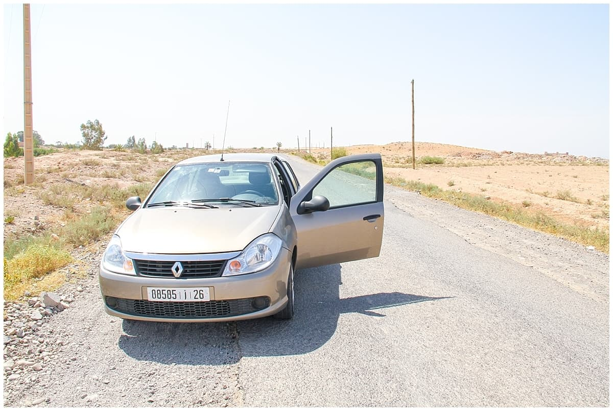Alone driving in Morocco