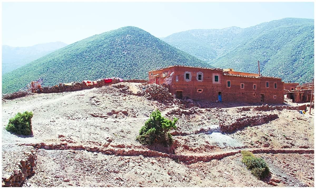 Berber village in the Atlas Mountains Morocco