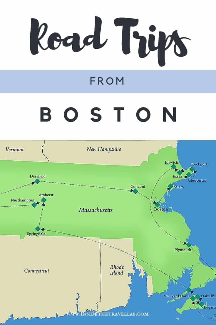Everything you need to know for an amazing road trip from Boston, including stops in Boston, Cape Ann to the north of Boston, Plymouth, Cape Cod and the Islands of Martha's Vineyard and Nantucket, inland to the Berkshires and around! #Boston #RoadTrip #Travel #Massachusetts #TravelAmerica