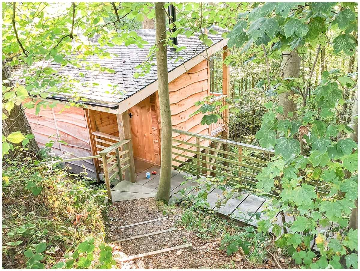 Treehouse glamping in Wales at Redwood Valley