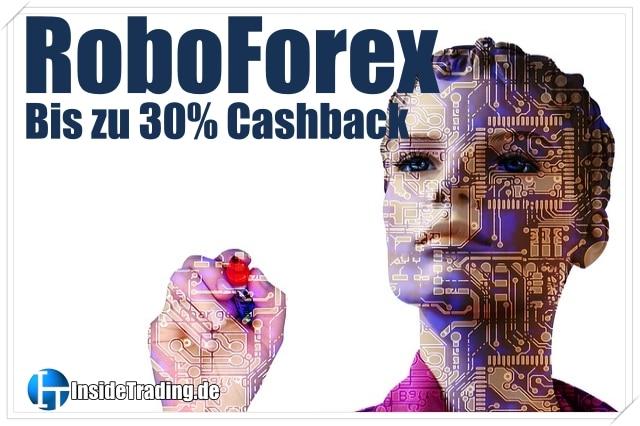 Bis zu 30% Spread- bzw. Kommission-Erstattung bei RoboForex
