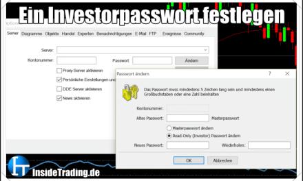 MetaTrader Secrets – Ein Investorpasswort festlegen/ ändern.