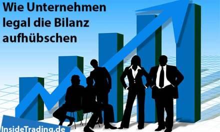 Wie Unternehmen legal die Bilanz aufhübschen