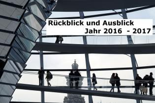 Wirtschaftlicher Jahresrückblick 2016 und Ausblick 2017