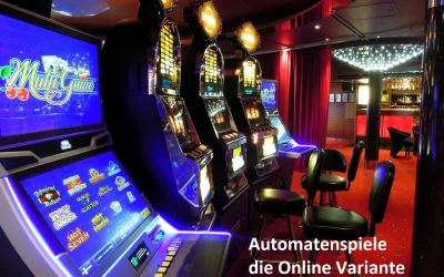 Automatenspiele – die Online Variante