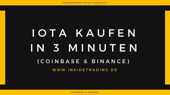 Wie kaufe ich IOTAs? | UpDate! |Coinbase & Binance