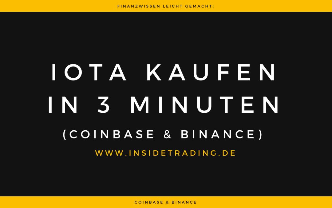 Wie kaufe ich IOTAs? | UpDate! | Coinbase & Binance