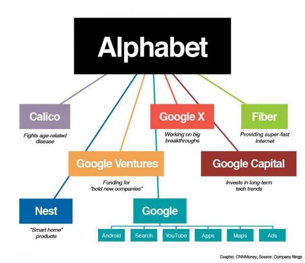 Alphabet schema azienda