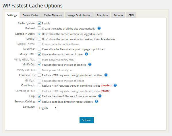 velocizzare il sito web_wp fastest cache