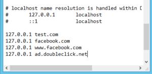 bloccare l'accesso ai siti-file hosts