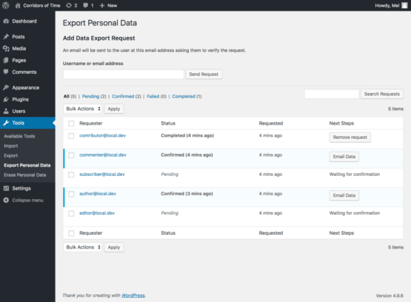 wordpress-4.6.9-export-data