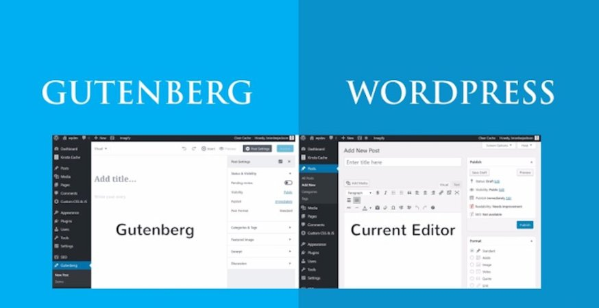 wordpress gutenberg vs currrent editor wordpress