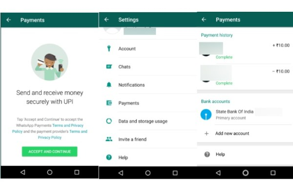 WhatsApp Payments-pagamenti