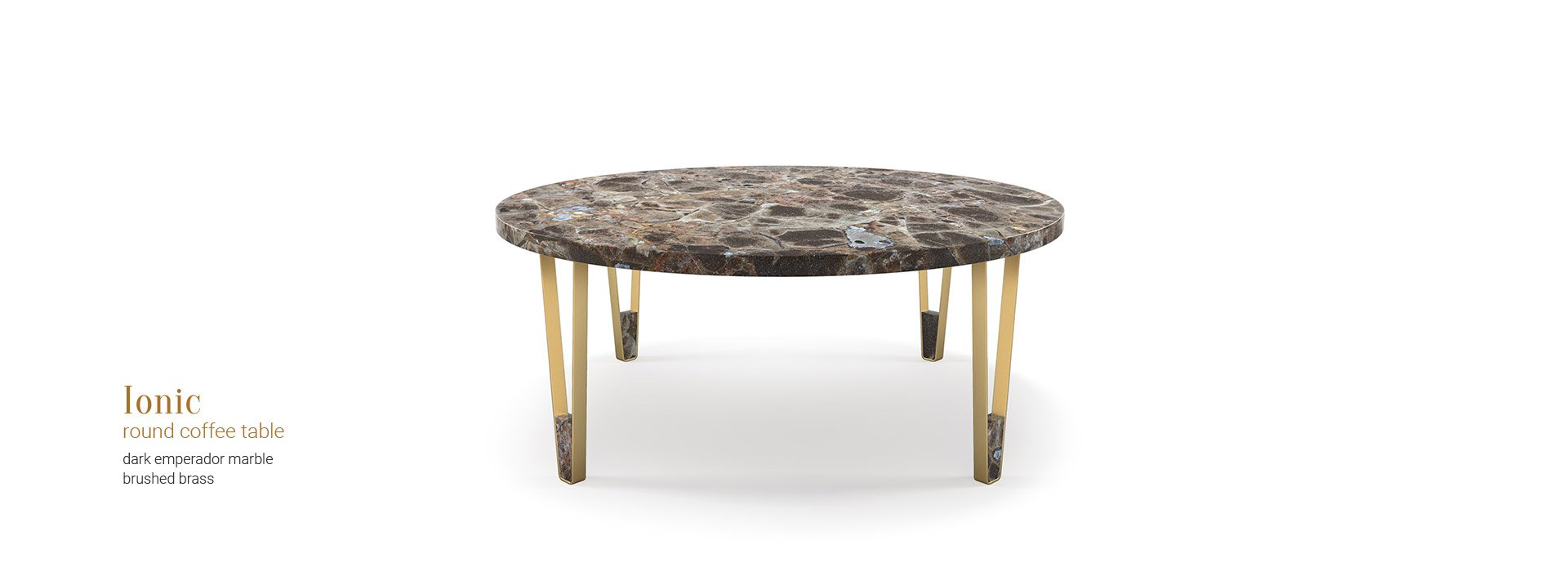 ionic round coffee table insidherland