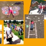 Viele Kinder in verschiedenen Workshops