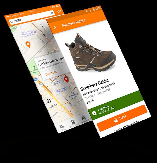 shoe retailer builds mobile app