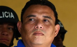 Arrested police officer Wilmer Alonso Carranza Bonilla